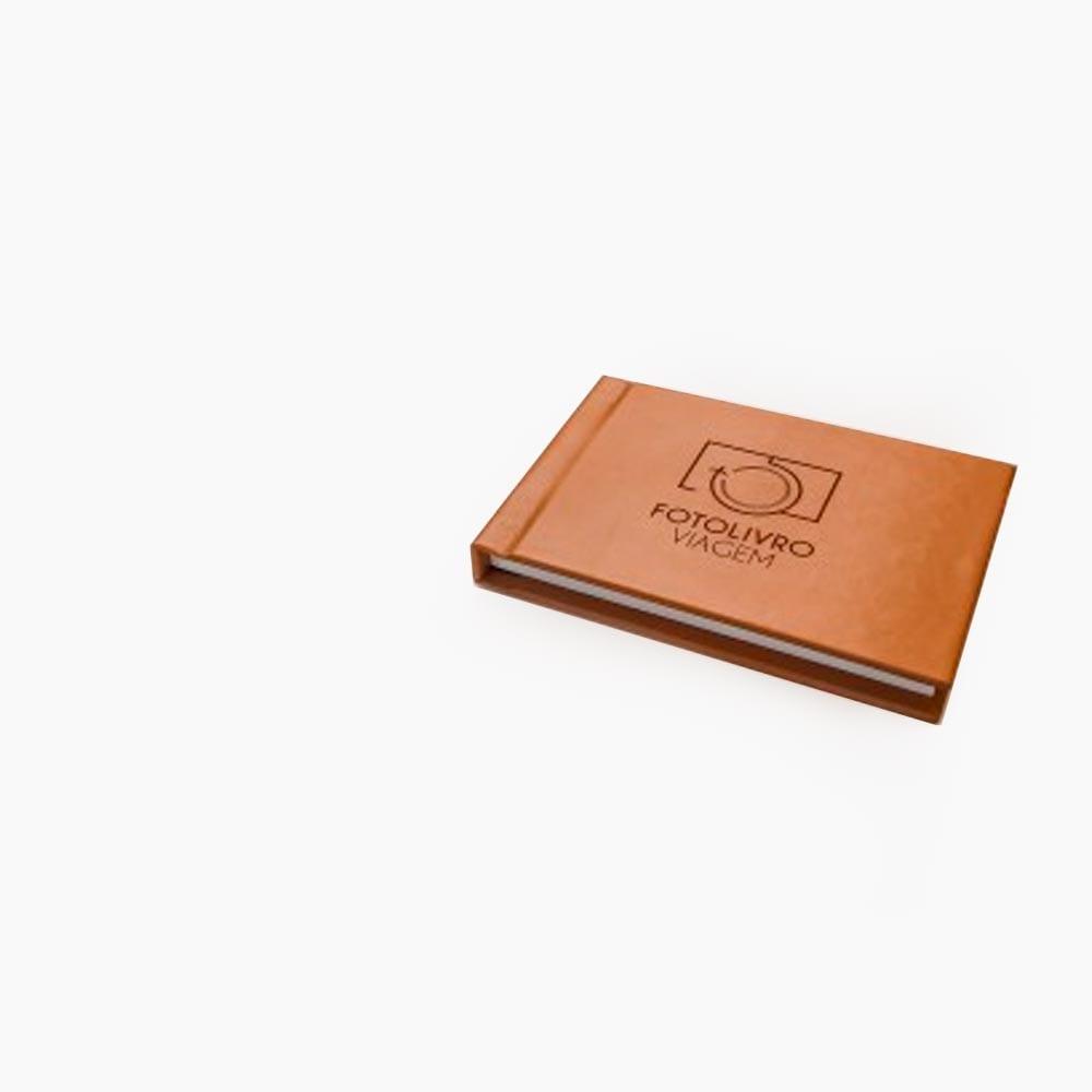Mini Book Capa de Couro 10x15